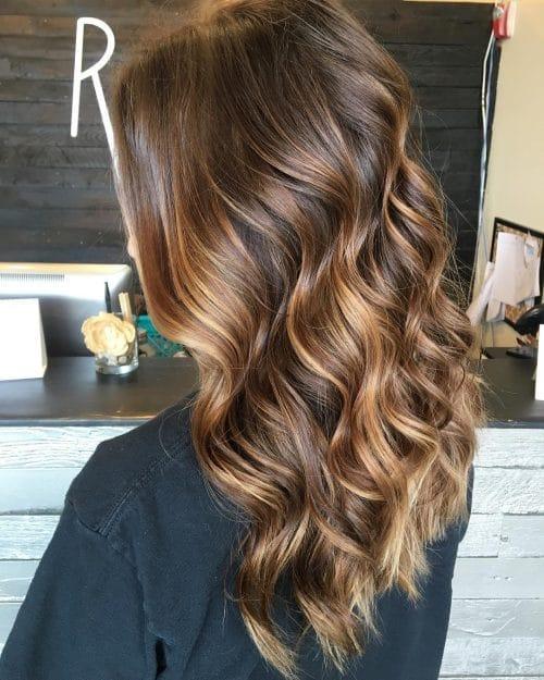 Warm-Toned Balayage hairstyle