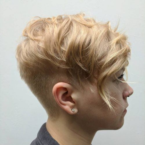 Cool Honey Blonde Disconnected Pixie