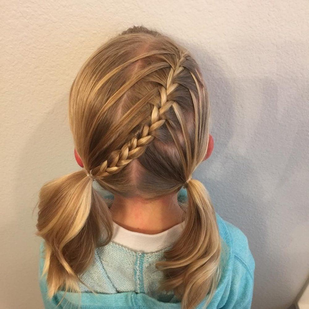 Waterfall Braid Pigtails hairstyle