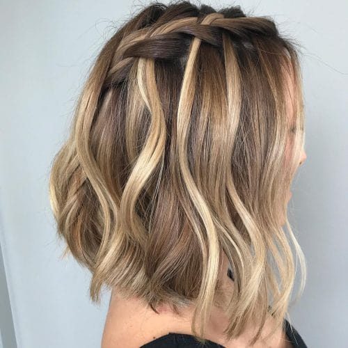 Waterfall Braided Bob hairstyle