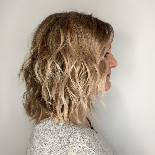 Picture of waves for thin shoulder length hair