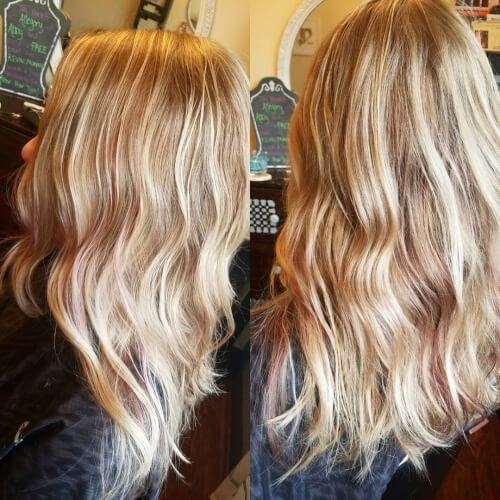 Strawberry Highlights hairstyle