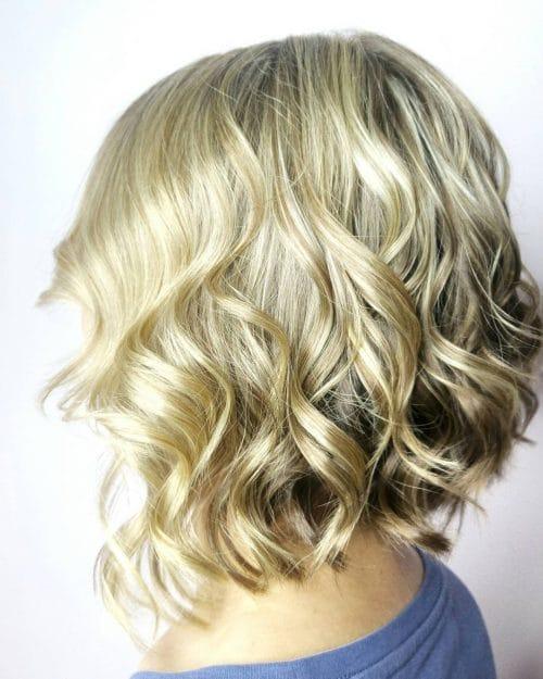 Wavy A-Line Bob hairstyle