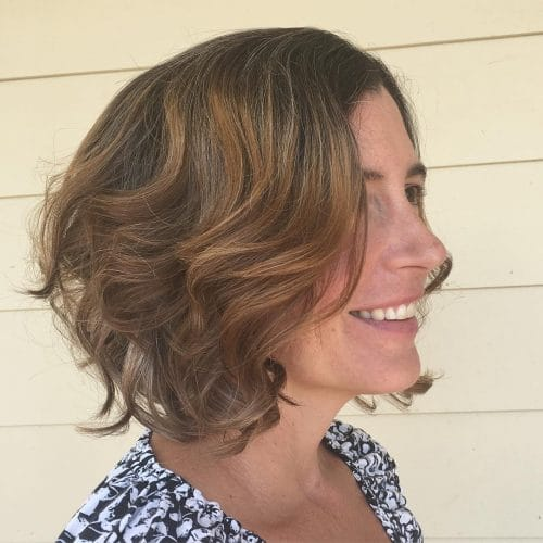 Wavy Layered A-Line Bob hairstyle