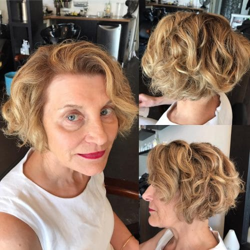 Wavy Ombre Bob hairstyle