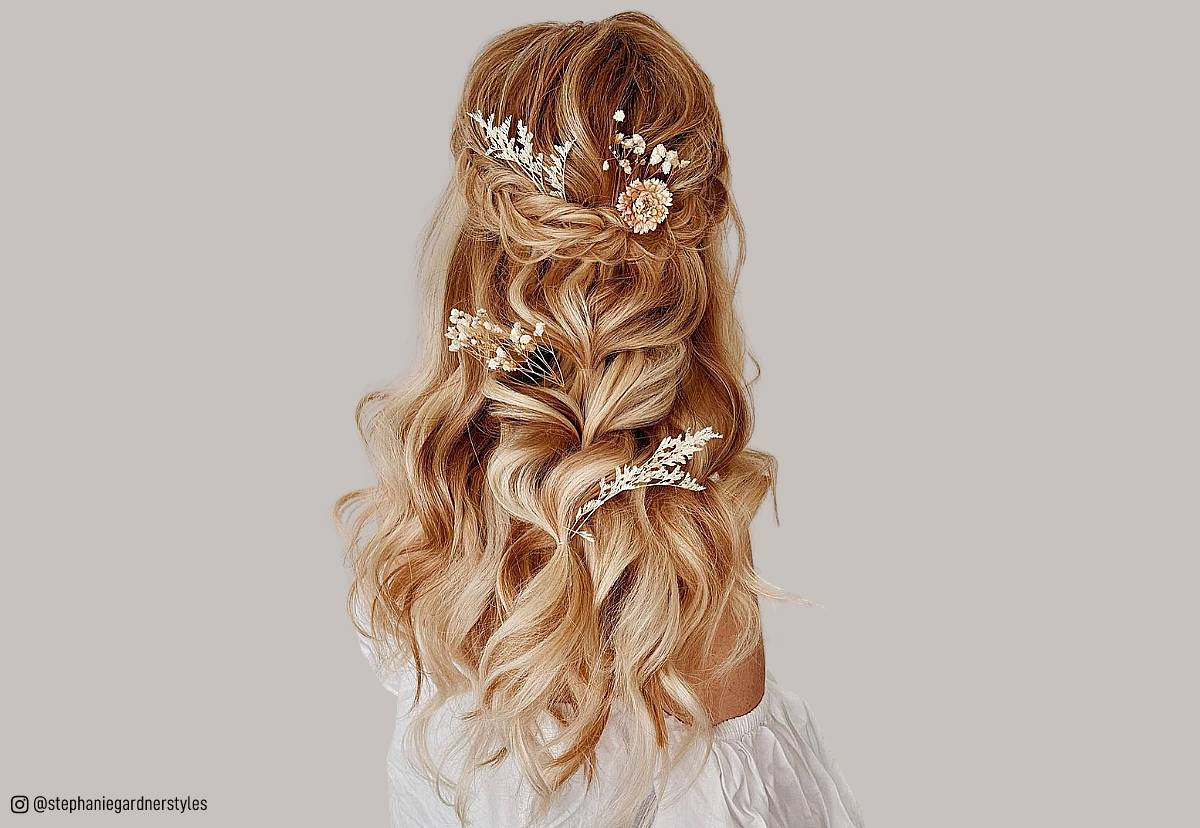 Wedding Hair Hairstyles: 27 Gorgeous Wedding Hairstyles For Long Hair In 2019