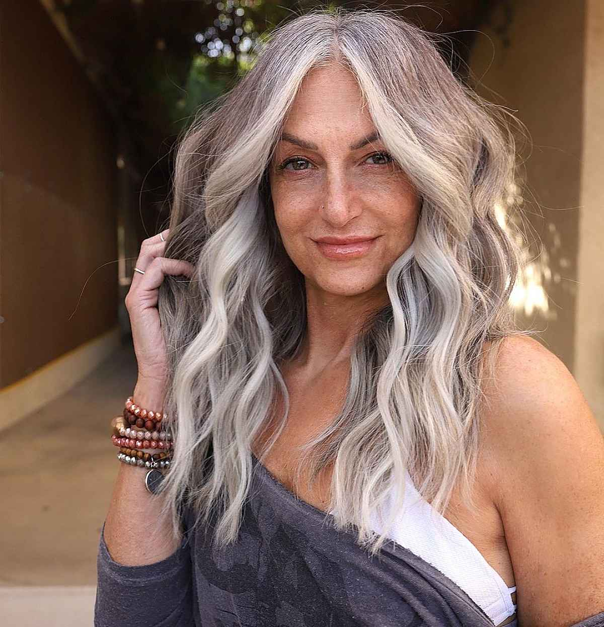 white blonde hair with ashy tones