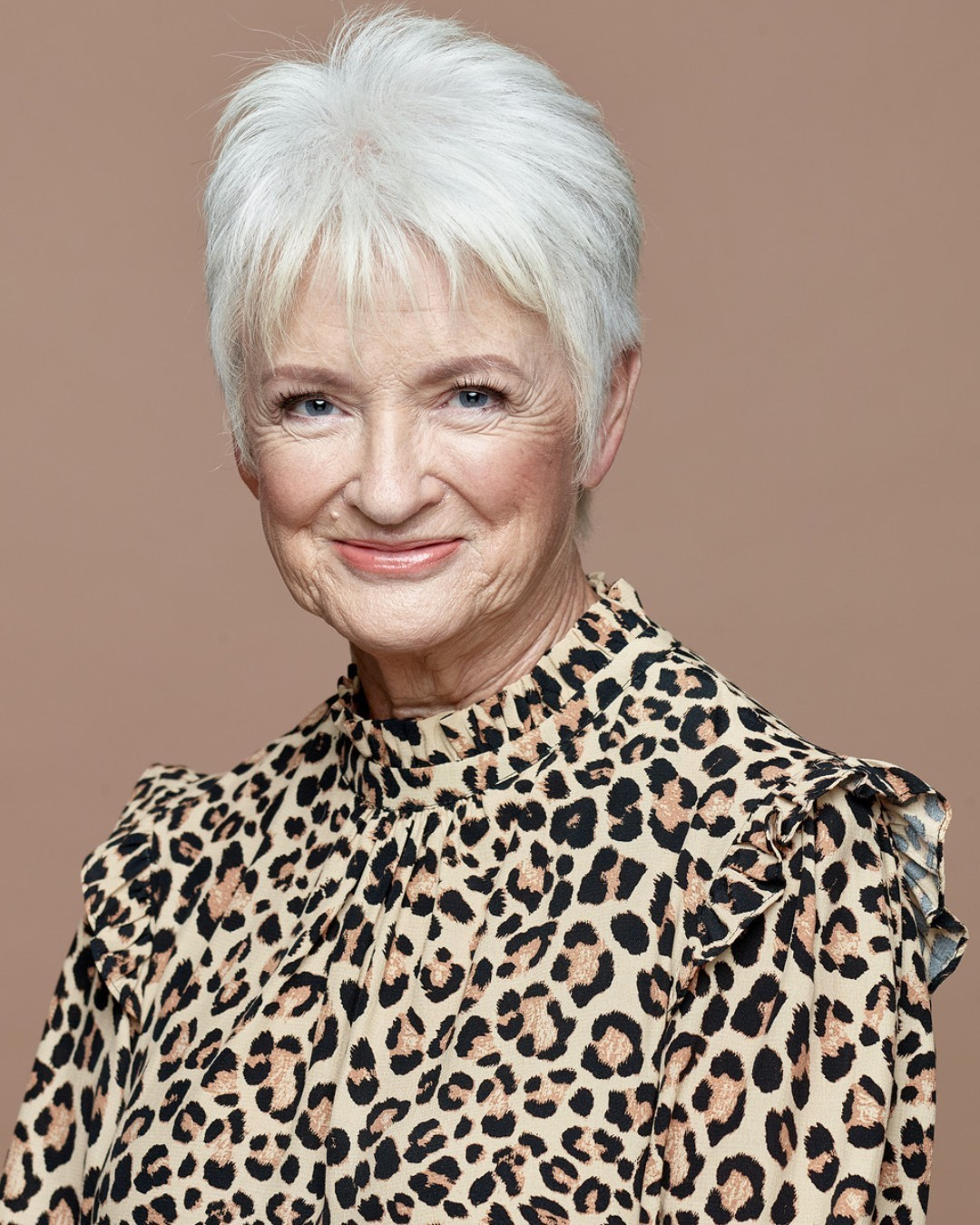 White short pixie cut for women over seventy