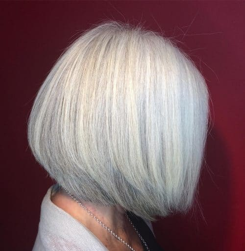 White Textured Graduated Bob hairstyle