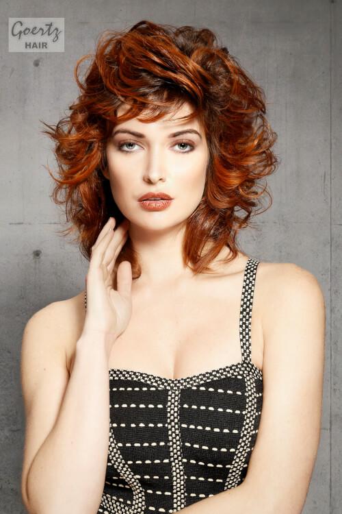 Copper Curls on Medium Length Hair