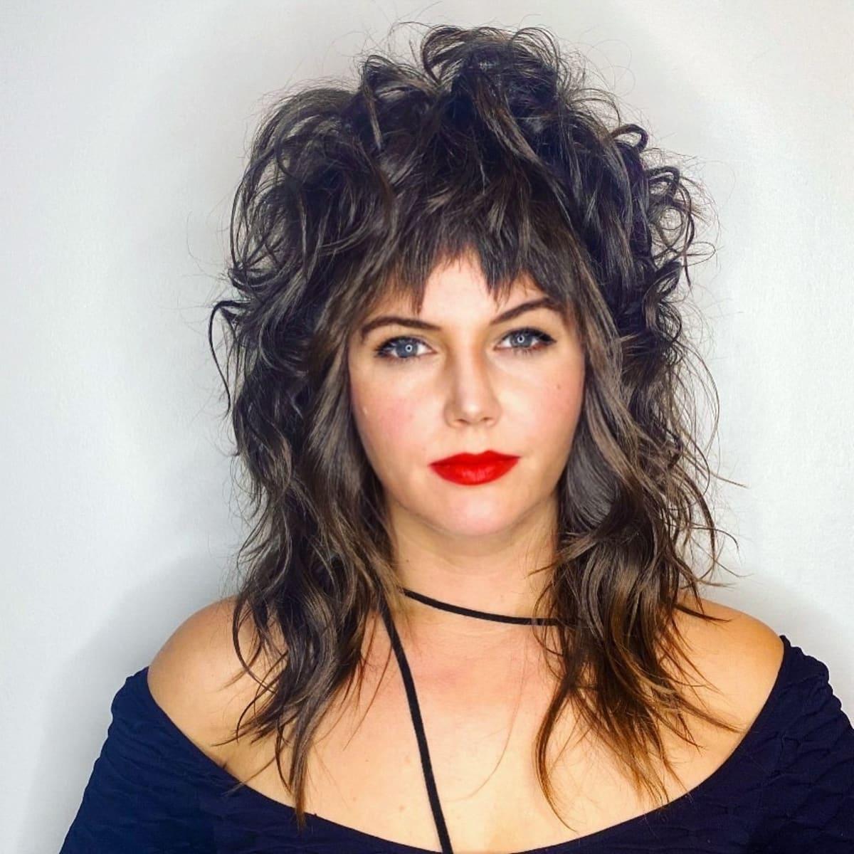 Wild Shaggy Mid-Length Hair