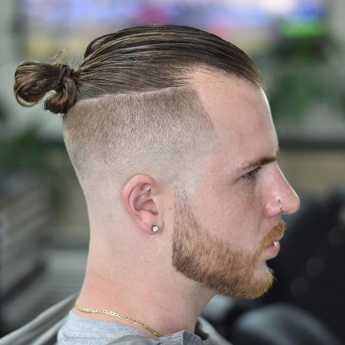 11 Awesome Man Bun Hairstyles With A Fade For 2020
