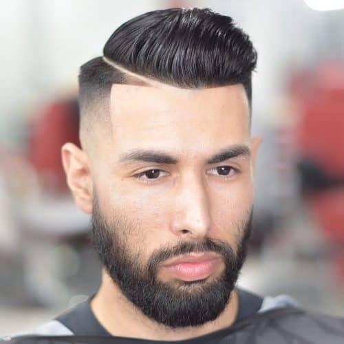Corte de pelo de alto desvanecimiento y alineación con parte dura