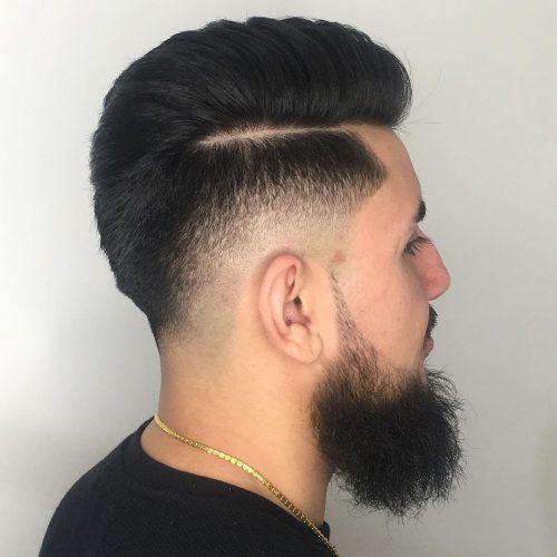 Desvanecimiento calvo tenue con barba