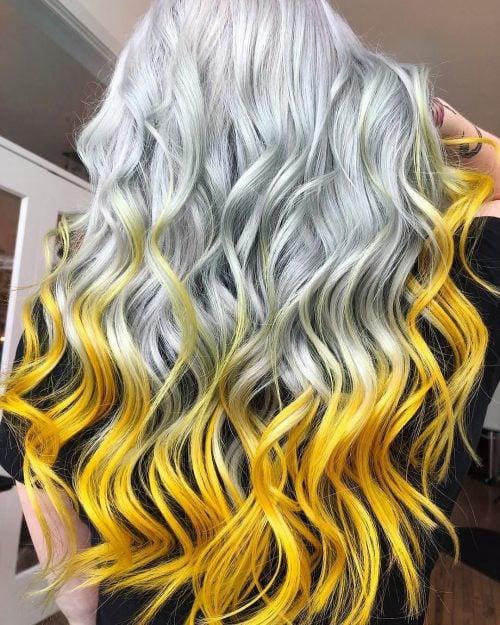 Yellow and White Hair