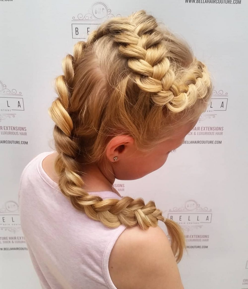 Zig-Zag Dutch Braid hairstyle